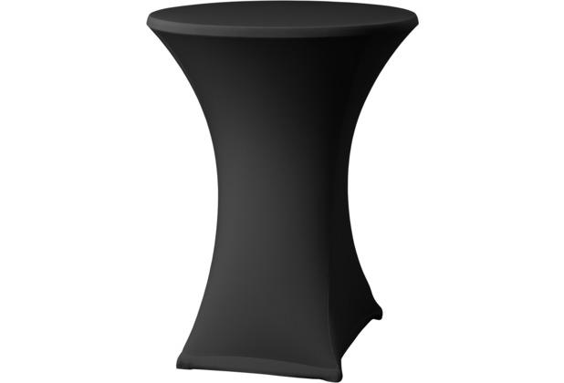 Dena Stehtischhusse Samba D2 Ø 70 cm, schwarz mit Tischplattenbezug