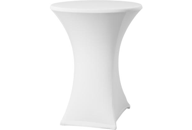 Dena Stehtischhusse Samba D2 Ø 70 cm, weiß mit Tischplattenbezug