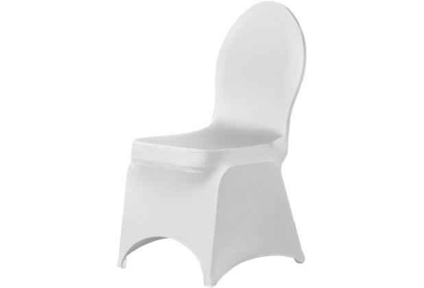 Dena Stuhlüberzug Brilliant, weiß inklusive 4 weiße Stuhlfüße