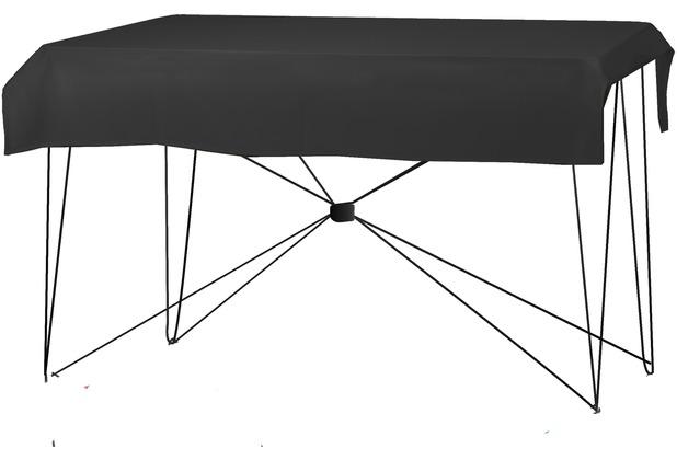 Dena Tischdecke PR 220x130cm Schwarz