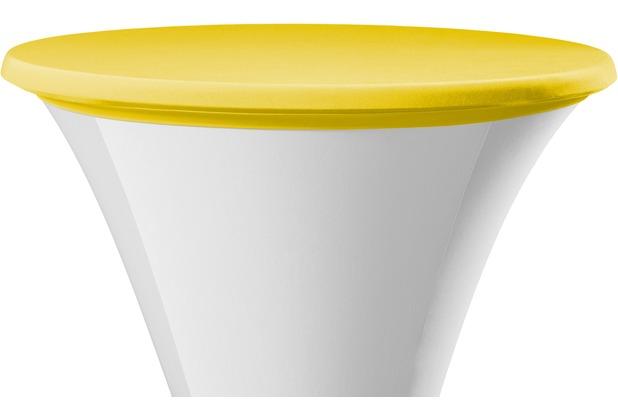 Dena Tischplattenbezug Festival / Cocktail Ø 70 cm, gelb