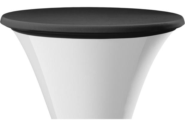 Dena Tischplattenbezug Festival / Cocktail Ø 70 cm, schwarz