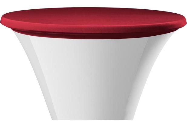 Dena Tischplattenbezug Samba rot dunkel Ø 70 cm