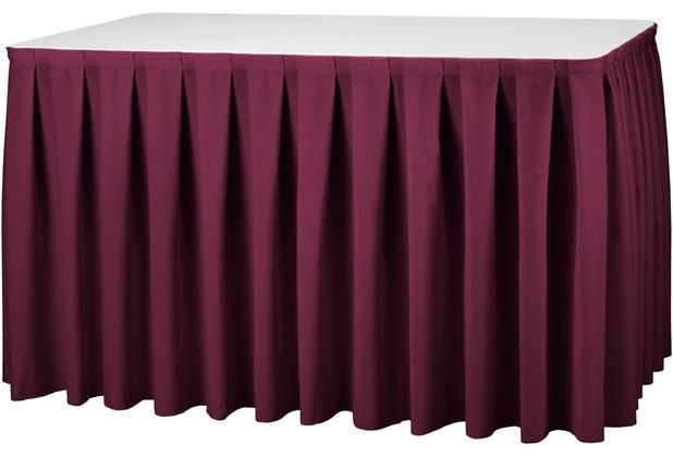Dena Tischskirting boxpleat 410 x 73 cm, rot inklusive Skirtingbügel