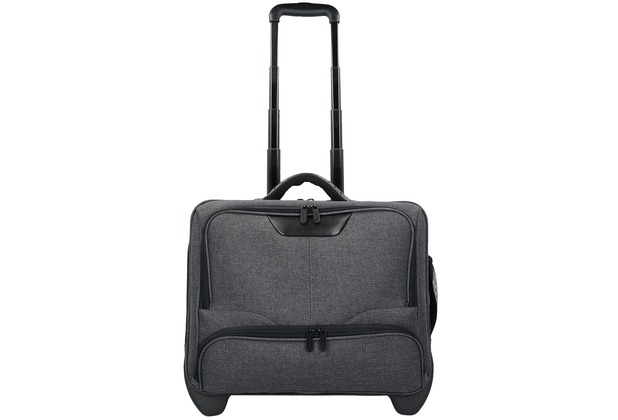 Dermata 2-Rollen Businesstrolley 42  cm Laptopfach grau