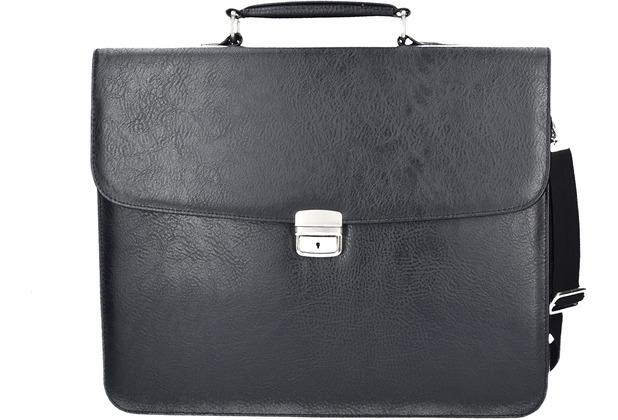Dermata Aktentasche 41 cm Laptopfach schwarz