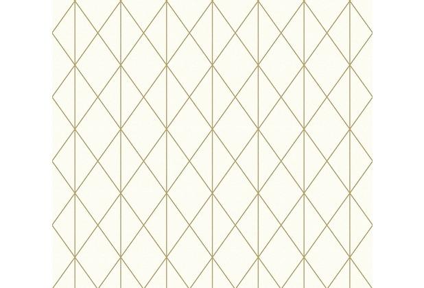 Designdschungel Vliestapete Tapete im skandinavischen Design metallic creme 10,05 m x 0,53 m