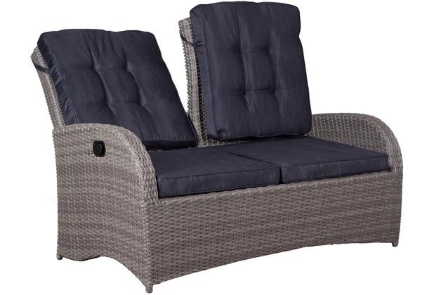 deVries Juan Lounge Relaxbank 2- Sitzer 8 mm smokey grey