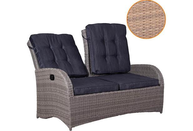 deVries Juan Lounge Relaxbank 2- Sitzer 8 mm spotted brown