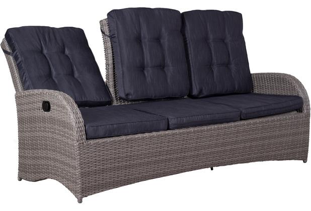 deVries Juan Lounge Relaxfunktionsbank 3- er 8 mm sm. gr.