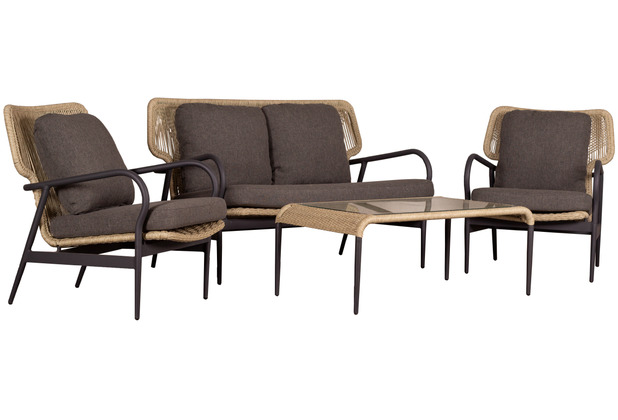 DeVries Sumba Loungeset 20 mm twisted seagrass
