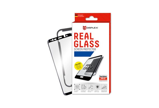Displex Displex, Real Glass 3D 0,33mm + Rahmen, Huawei P20, Displayschutzglasfolie