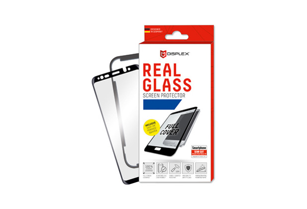 Displex Displex, Real Glass 3D 0,33mm + Rahmen, Huawei P20 Lite, Displayschutzglasfolie