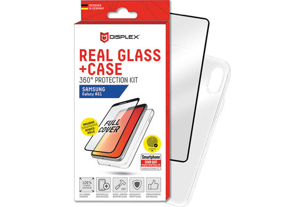 Displex Real Glass + Case für Samsung Galaxy A51