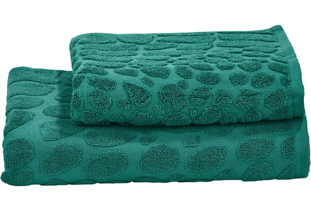 done.® Black Line Safari Croco 2er Handtuch Set  Dark Green