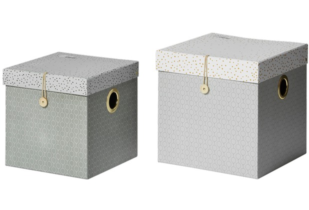 Done by Deer Square box set, 2-teilig, groß, grau