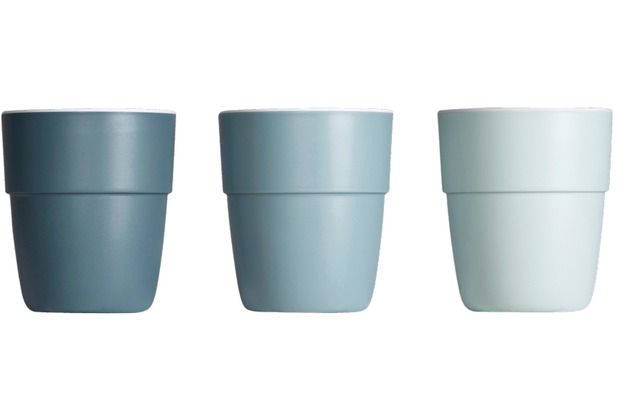 Done by Deer Yummy mini mug, 3-pack, blue tones
