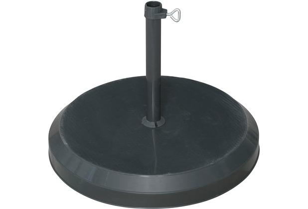 doppler Betonsockel mit Kunststoff-Abdeckung 20kg anthrazit - für Rohr 19-25mm