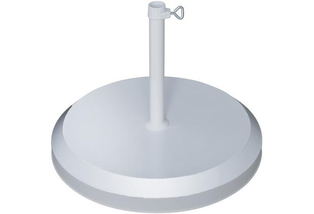 doppler Betonsockel mit Kunststoff-Abdeckung 20kg silber - für Rohr 19-25mm