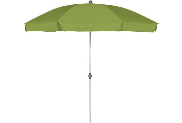 doppler GS Active ca. 200/8tlg. D. 836 fresh green, Gestell silber Sonnenschirm