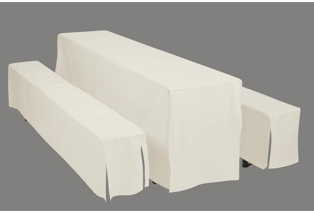 doppler Hussenset f. FZ-Garnitur CN D. 900 natur für Tisch 50 cm