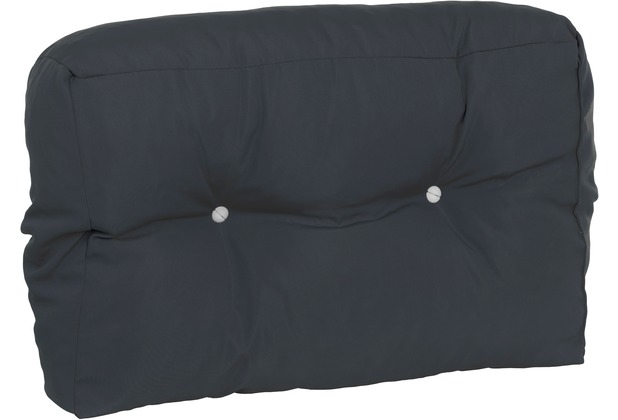 doppler Paletten-Rückenkissen HALB ca. 60x40x14-20 cm D. 827 Look, verstürzter Steg (ohne RV), 2x Knöpfe