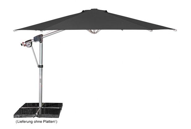 doppler Protect Pendel 400/8tlg. Achteck in anthrazit inkl. Schirmständer + Hülle Sonnenschirm