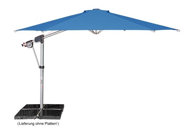 doppler Protect Pendel 400/8tlg. Achteck in aquamarin inkl. Schirmständer + Hülle Sonnenschirm