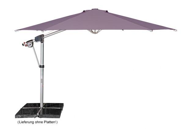 doppler Protect Pendel 400/8tlg. Achteck in flieder inkl. Schirmständer + Hülle Sonnenschirm
