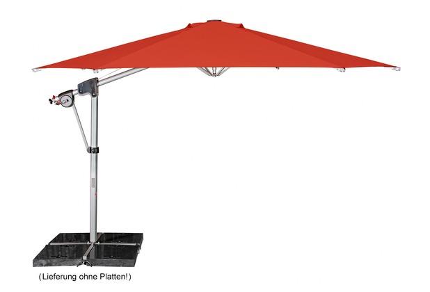 doppler Protect Pendel 400/8tlg. Achteck in rot inkl. Schirmständer + Hülle Sonnenschirm