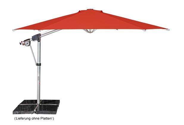 doppler Protect Pendel 400/8tlg. Achteck in smaragd inkl. Schirmständer + Hülle Sonnenschirm