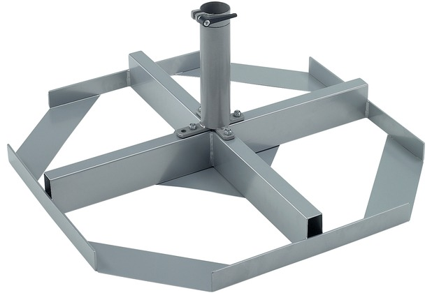 doppler Schirmständer ALU Expert/Star 50 mm Aufsatzrohr, 8 Pl. 40x40 cm