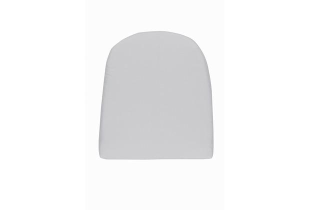 doppler Sitzkissen Look gerundet ca. 43x48x4 cm D. 827 hellgrau
