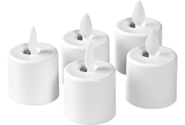 Duni 5er Set Ersatzlampen, LED Moving Flame warm white 38 x 36 mm 1 Stück