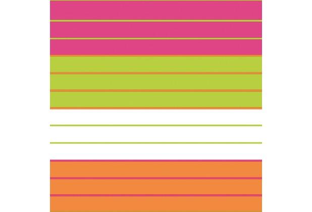 Duni Cocktail-Servietten Tissue  24 x 24 cm Motiv 3-lagig 20 Stück Tropical Stripes