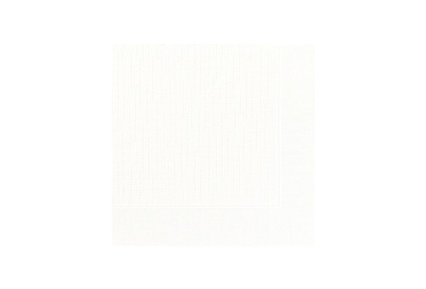 Duni Dinner-Servietten 4lagig Tissue geprägt Uni weiß, 40 x 40 cm, 50 Stück