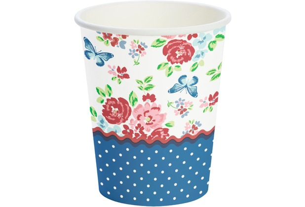 Duni Becher Pappe Sweet Roses 24 cl 10 St.