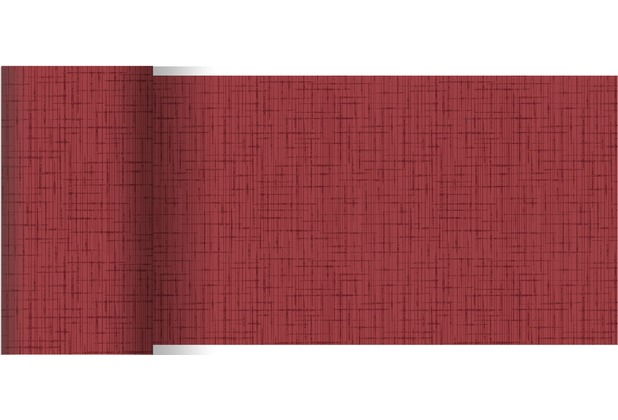 Duni Dunicel Tischläufer Linnea 20 m x 15 cm Hochzeit bordeaux