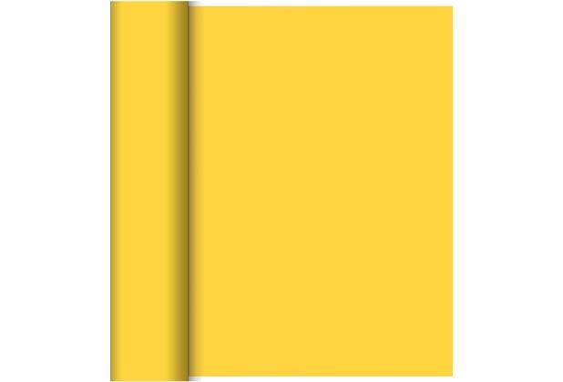 Duni Dunicel-Tischläufer Tête-à-Tête gelb, 40cm breit, perforiert 1 Stück