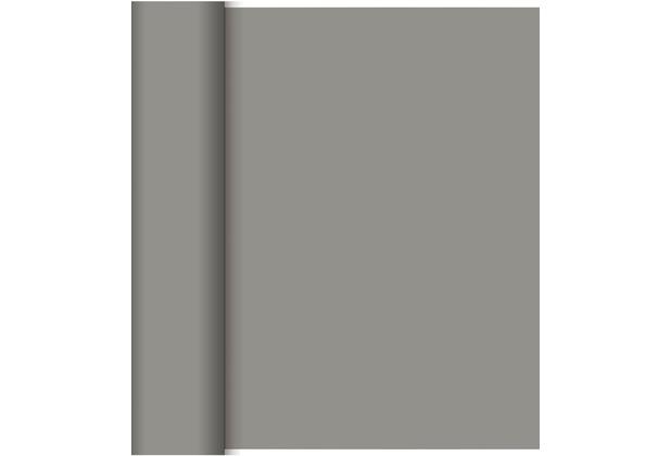 Duni Dunicel-Tischläufer Tête-à-Tête granite grey, 40cm breit, perforiert 1 Stück
