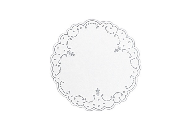 Duni Dunicel-Untersetzer weiß/silber Ø 19 cm 250 Stück