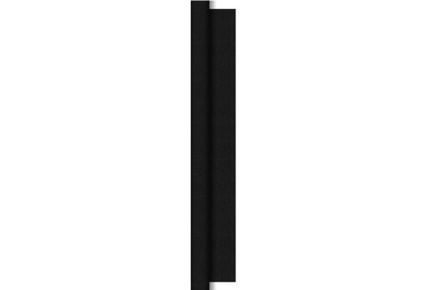 Duni Dunitex Tischdeckenrolle Linnea schwarz 1,45 x 15 m