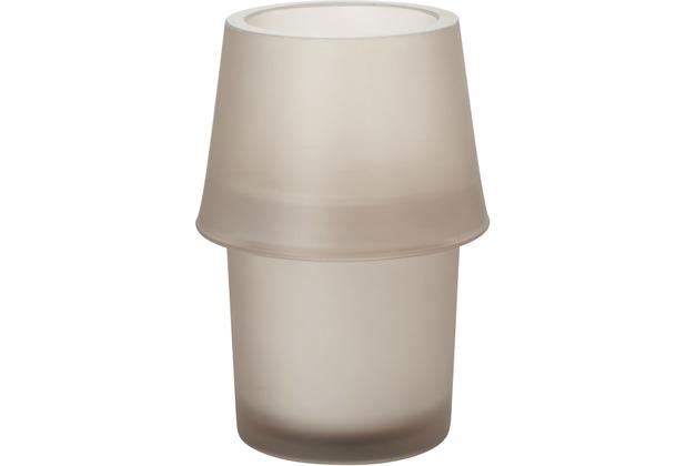 Duni Kerzenglas für Nachfüller und Teelichte Urban frosted greige 135x87mm