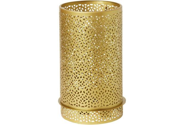 Duni Kerzenhalter aus Metall für Maxi-Teelichter oder LED Bliss gold 200 x 120 mm 1 Stück