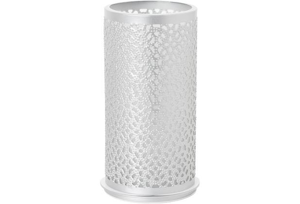 Duni Kerzenhalter Bliss silber, aus Metall für Teelichter oder LED 140x75mm
