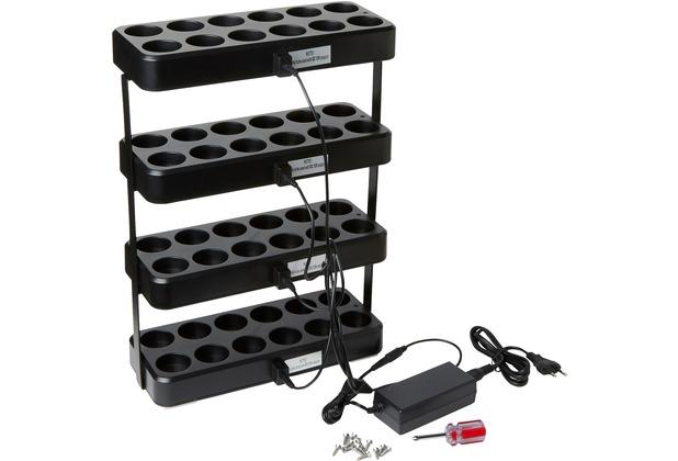 Duni LED Ladestation 305 x 124 x 430 Ladestation für 4 LED Sets, incl aller Zubehörteile zum Aufbau 1 Stück