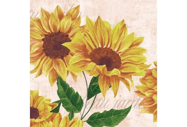 Duni Servietten Tissue Sunflower Poem 33 x 33 cm 20 St.