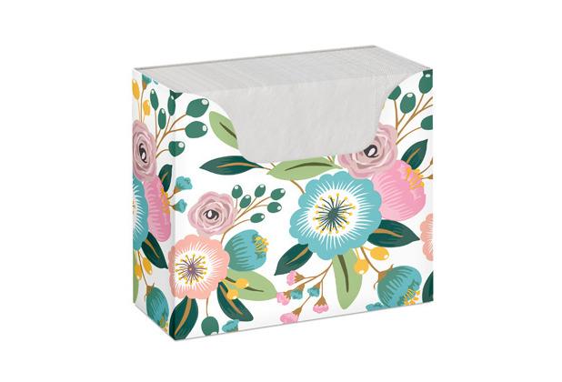 Duni Serviettenbox Tissue Blossoms 33 x 33 cm 75er