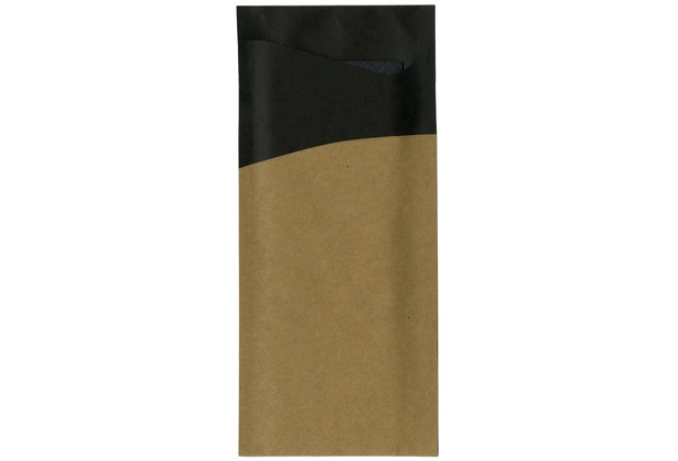 Duni Serviettentaschen Sacchetto®, Tissue, Motiv black/brown 190 x 85mm