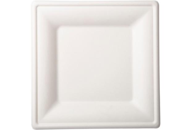 Duni Teller Bagasse weiß 26 x 26 cm 10er